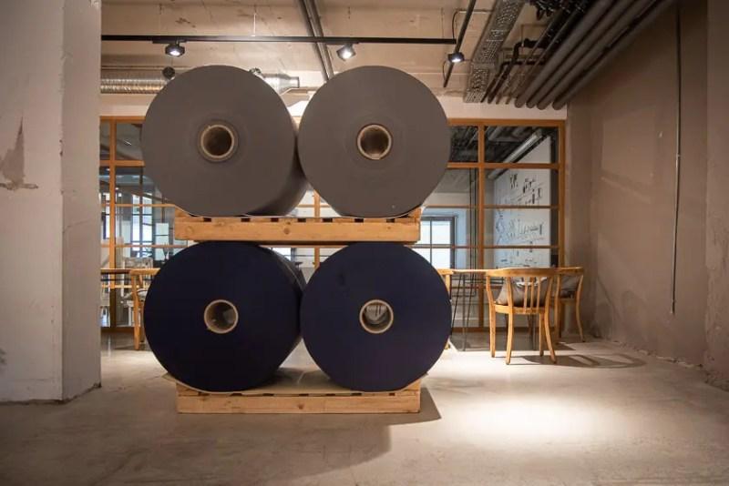 Mangfallblau Fabrikrestaurant Gmund Papier Tegernsee
