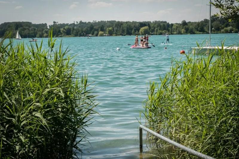 Badespass und Wassersport am Wörthsee  bei München