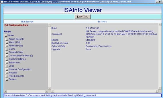 Figure 3: ISAinfo viewer
