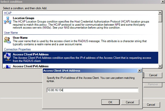 Figure 15: Add the IP address of the TMG Server to the CRP