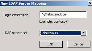 Figure 8: Specify LDAP settings for UPN