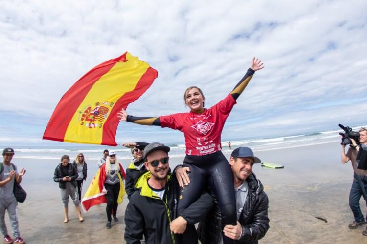 Carmen Garcia de España no puede contener su emoción después de ganar la Medalla de Oro en Impedimento Visual 1 Mujeres. Foto: ISA / Pablo Jimenez