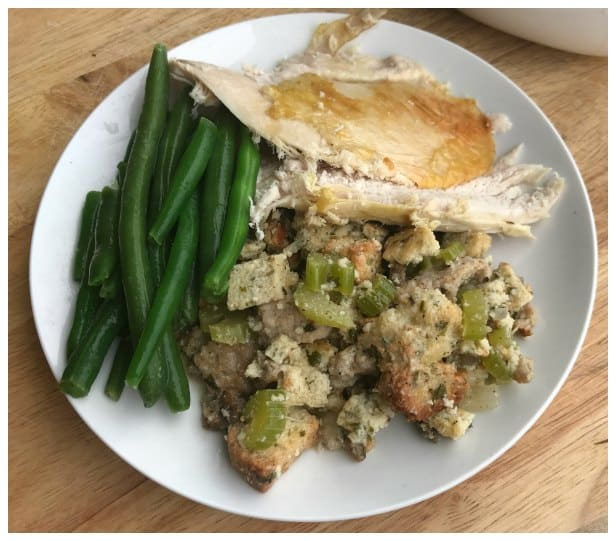 Keto Stuffing Recipe Made with Savory Keto Bread