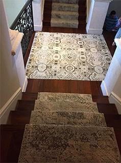 Custom Staircase Installation Oscar Isberian Rugs Chicago | Custom Carpet Runners For Stairs | Wood | Carpet Workroom | Charlotte Nc | Area Rugs | Hallway Carpet