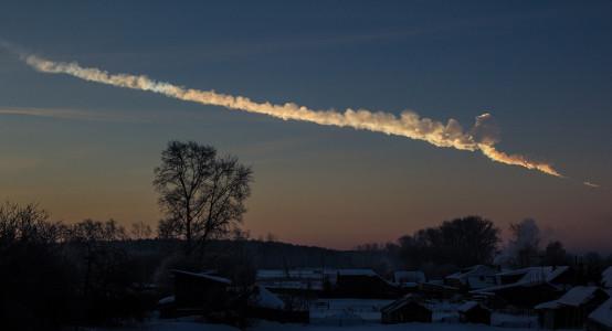 The Chelyabinsk meteor 0 Source: Alex Alishevskikh, Wikimedia Commons.