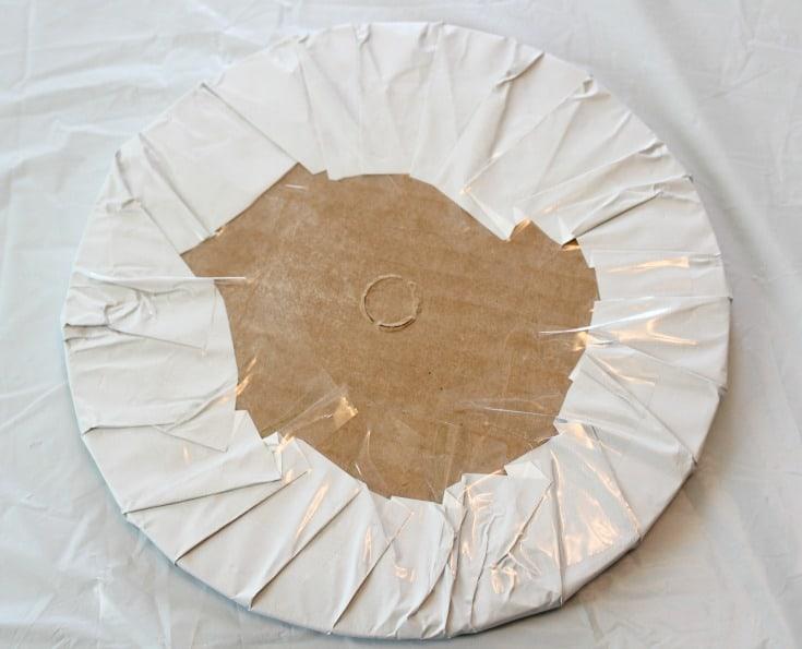 Covered round cake base