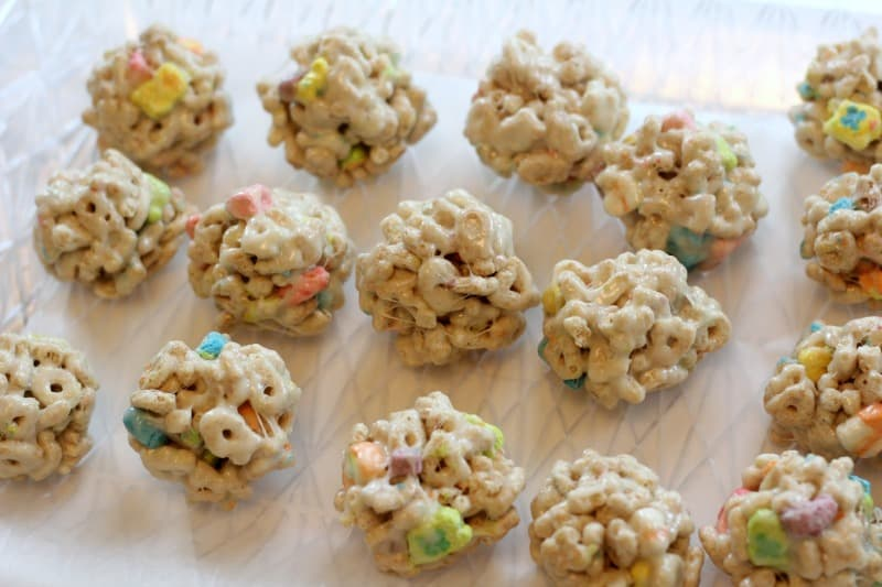 rolling the cereal pops