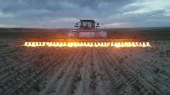 Flammenwerfer auf dem Feld