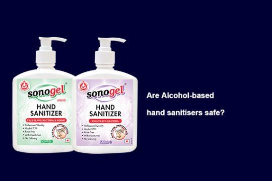 alcohol hand sanitizer safe