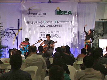 Joey Ayala and the Bagong Lumad Artists Foundation make the book launch of 'Measuring Social Enterprise' a cultural event to remember.
