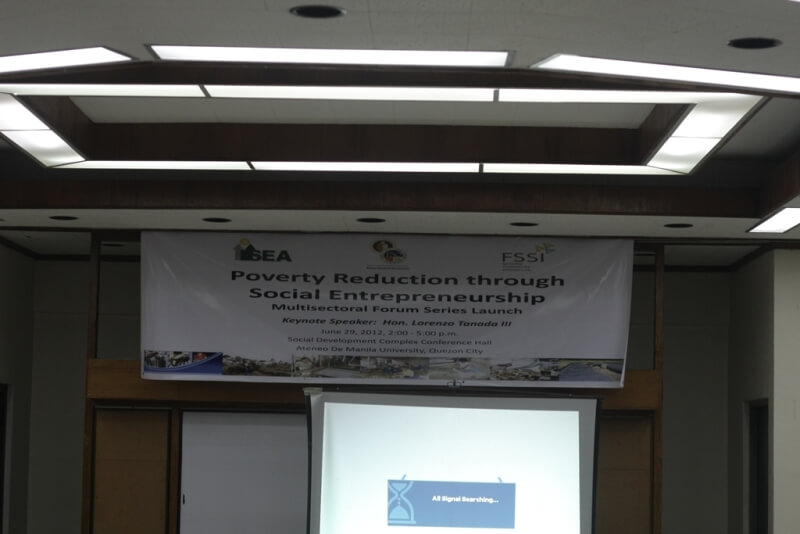 FSSI and ASoG co-sponsor the Poverty Reduction Through Social Entrepreneurship (PRESENT) Multisectoral Forum Series Launch