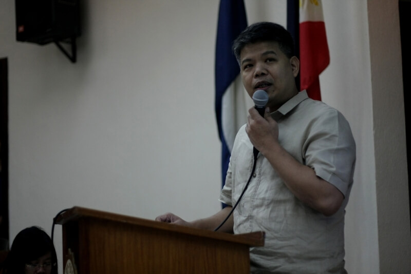 Undersecretary Jude Esguerra delivers his presentation on NAPC Perspectives on Poverty Reduction Through Social Entrepreneurship  and the PRESENT Bill.