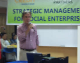 Outgoing Managing Director Tor Gull graces the opening day of the course and thanks partners in Southeast Asia for contributing to the realization of Oikocredit International's development objectives.