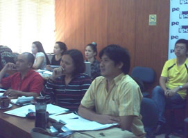 Participants listen intently during one of the lectures.