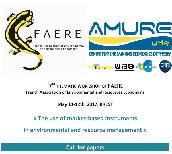 7TH THEMATIC WORKSHOP OF FAERE French Association of Environmental and Resources Economists