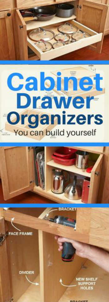 10 DIY Kitchen Cabinet Amp Drawer Organizers You Can Build