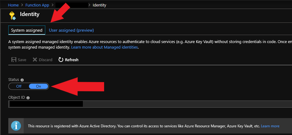 AzureFunctionAppManagedIdentity