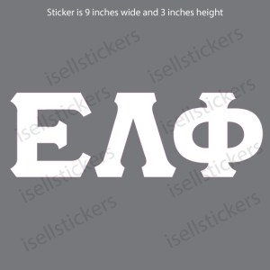 Lee University Epsilon Lambda Phi White Window Bumper Sticker Car Decal
