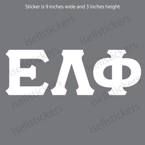 Lee University Epsilon Lambda Phi White Window Bumper Sticker Car Decal