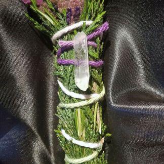 Lavender smudges