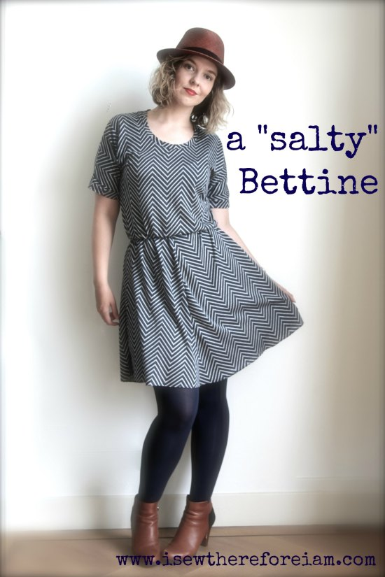 A jersey mash-up of Bettine from Tilly and the Buttons and Sewaholic Saltspring skirt