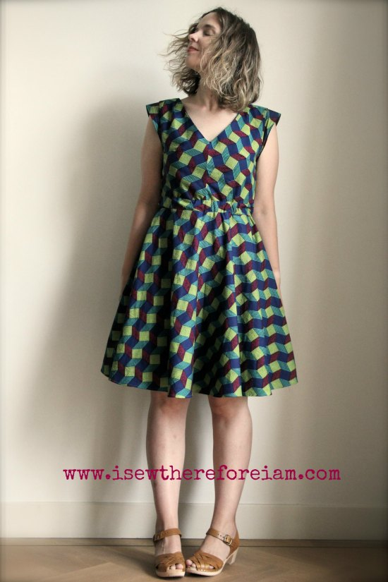 Deer and Doe Reglisse Dress in wax cotton