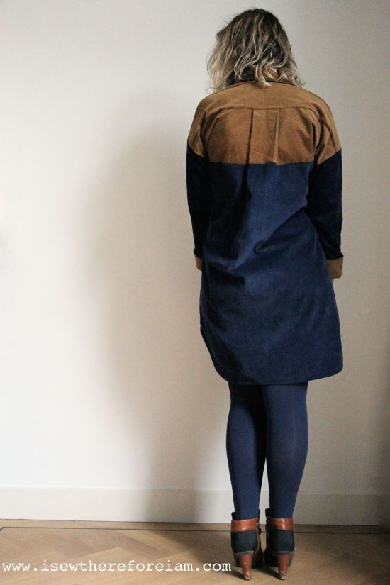 Here is my winter Kalle shirt dress, sewn using the sleeve expansion back from Closet Case patterns and made out of babycord from Merchant and Mills