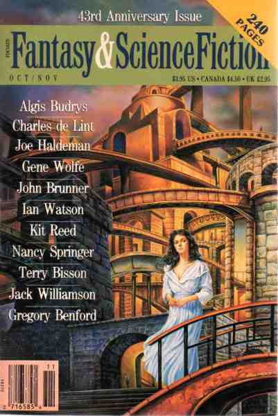 Publication  The Magazine of Fantasy   Science Fiction  October     Publication  The Magazine of Fantasy   Science Fiction  October November  1992