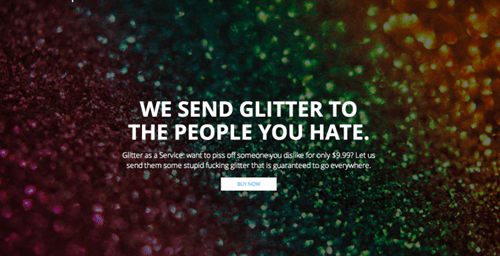 There's a Site That Allows You to Anonymously Ship Your Enemies the Most Vile Substance Known to Man- Glitter