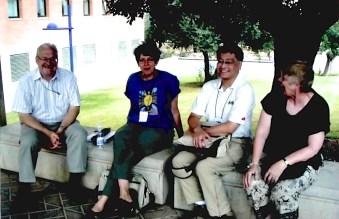 Dick Peter, Alice Hontela, John Chang and Leona Peter