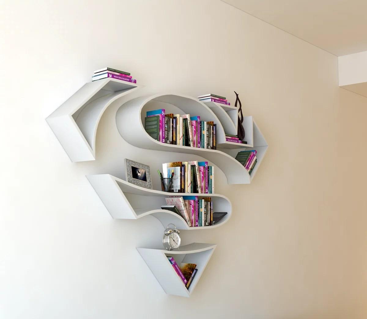 SuperMan 3D Book Shelf Idea 2