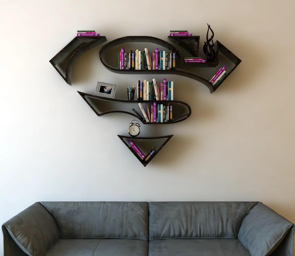 SuperMan 3D Book Shelf Idea 3