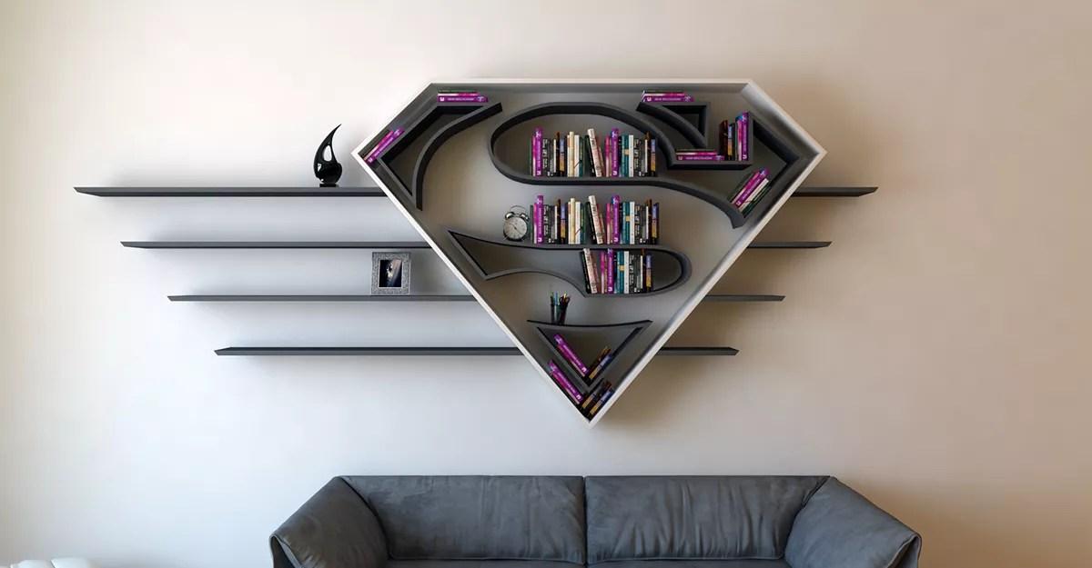 SuperMan 3D Book Shelf Idea 4