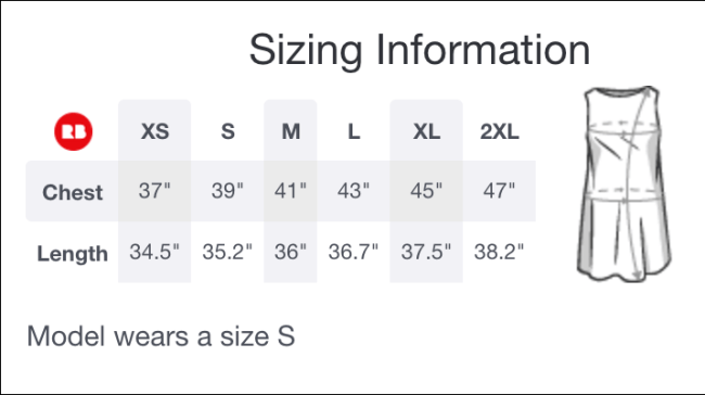 Sizing for RedBubble A-Line Dress