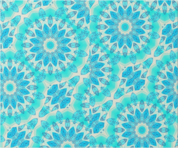 Blue Ice Goddess, Abstract Crystals of Love Mandala | Wrapping Paper | Seam