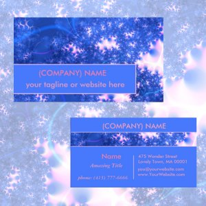 Blue Pink Delicate Cosmic Growth, Osmosis Fractal | Business Cards