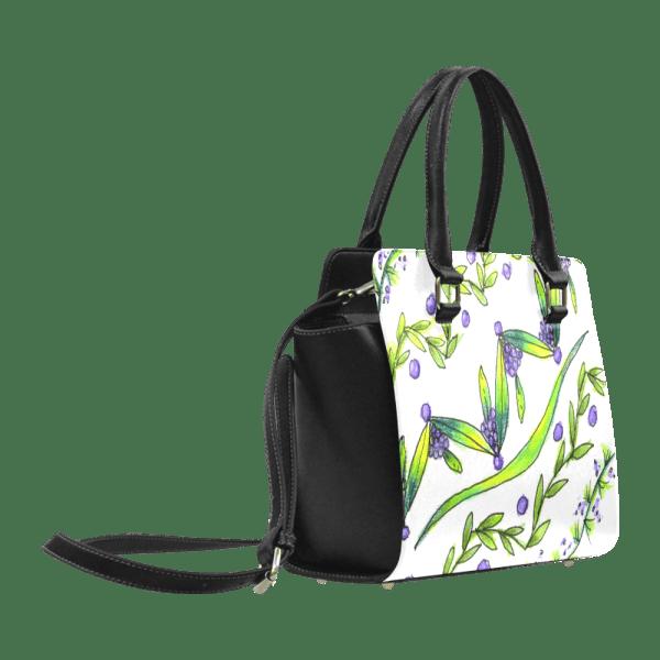 Dancing Greeen, Purple Vines, Grapes Zendoodle Classic Shoulder Handbag-AA