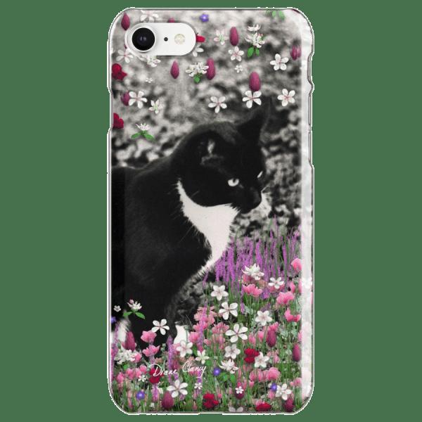 Freckles in Flowers II - Tuxedo Cat  | iPhone Case | DianeClancy @ RedBubble