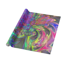 Sold! ❤ Glowing Burst of Color, Abstract Teal Violet Deva Wrapping Paper