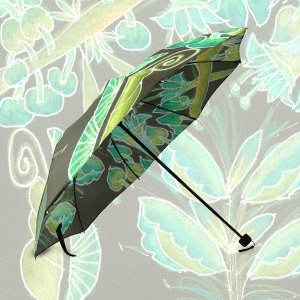 Irish Garden, Lime Green Flowers Dance in Joy Zendoodle | Foldable Umbrella