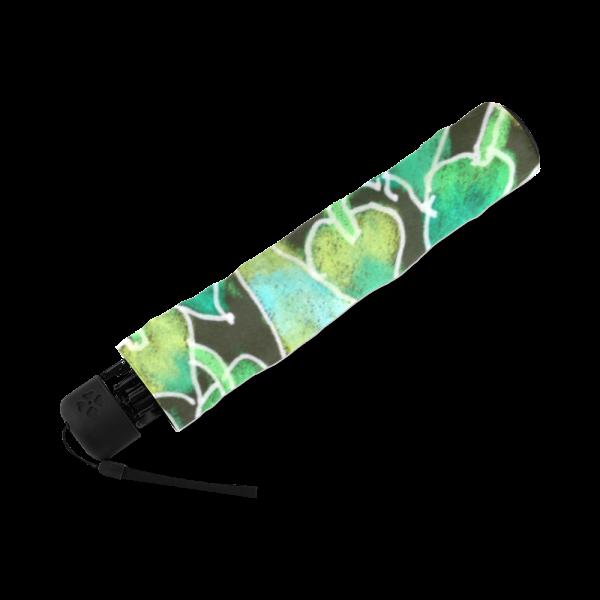 Irish Garden, Lime Green Flowers Dance in Joy Zendoodle | Foldable Umbrella