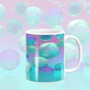 Ocean Dreams, Aqua and Indigo Seascape Universe | Mug