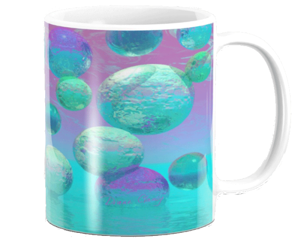 Ocean Dreams, Aqua and Indigo Seascape Universe | Mug