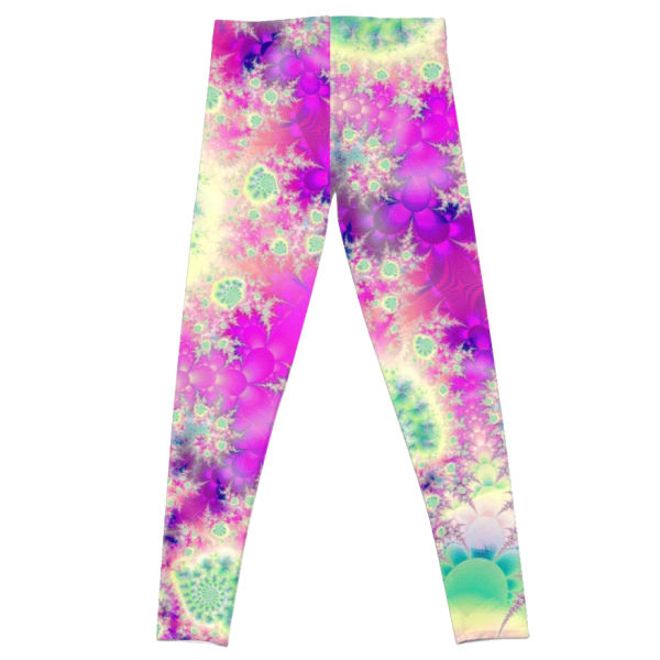 Raspberry Heart Star, the Abstract Fractal Heart Beat of Love | Leggings | DianeClancy | @ RedBubble