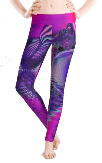 Rose Crystal Palace, Abstract Violet Love Dream Leggings