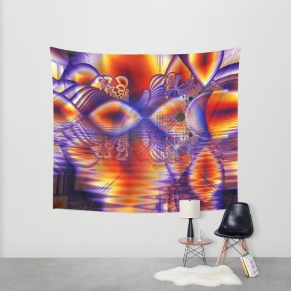 Winter Crystal Palace, Abstract Cosmic Dream | Wall Hanging