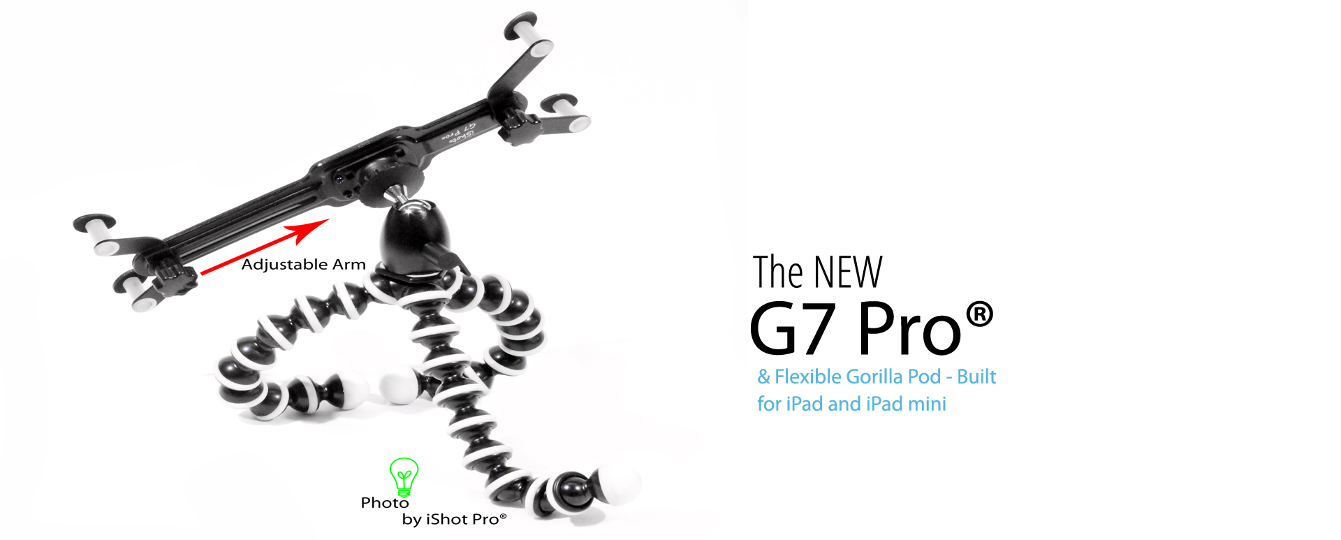 G7 Pro Ipad Mini Tripod Mount 360 Swivel Ball Head