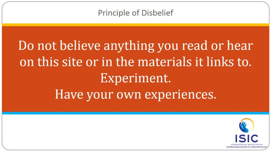 Principle of Disbelief