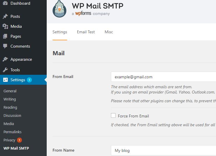 wp-mail-smtp-impostazione