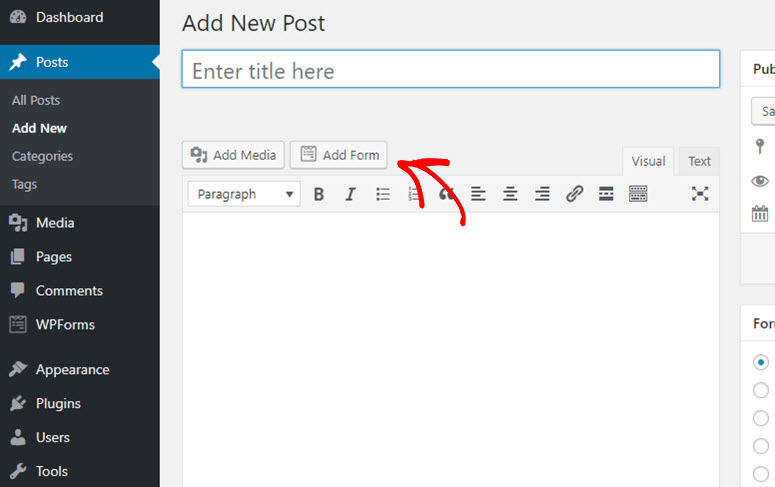 click add form